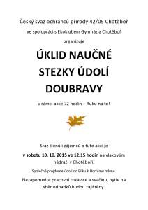 plakát - Doubravka 15