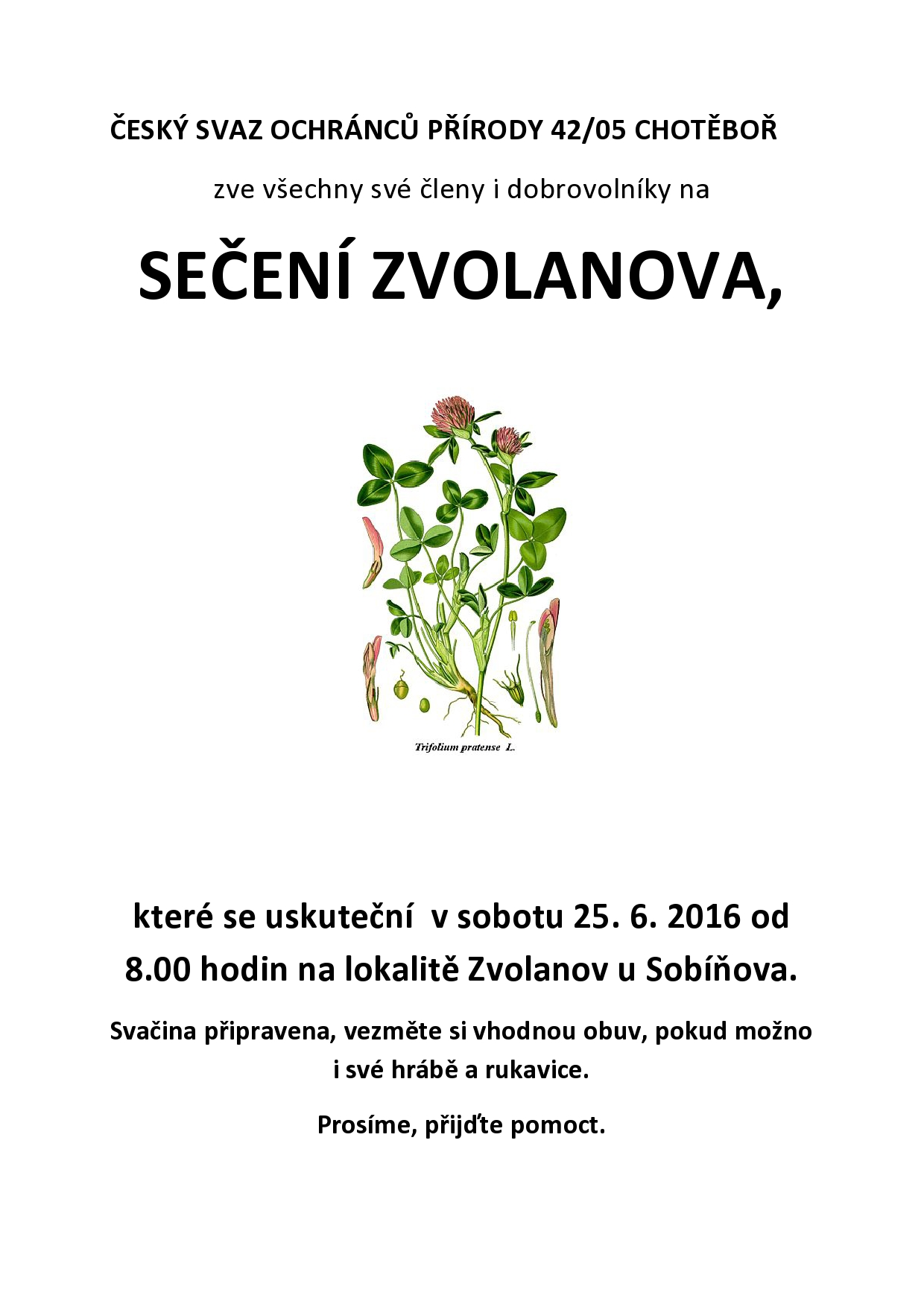 Kosení Zvolanova
